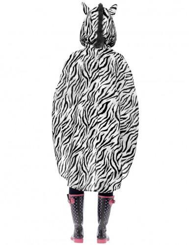 Zebra-Poncho für Erwachsene-1