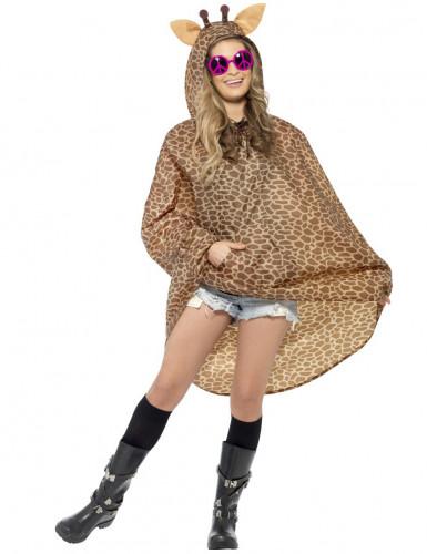 Giraffen-Poncho für Erwachsene