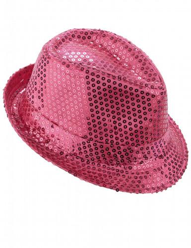 Glitzer Party Hut rosa mit Pailletten für Erwachsene