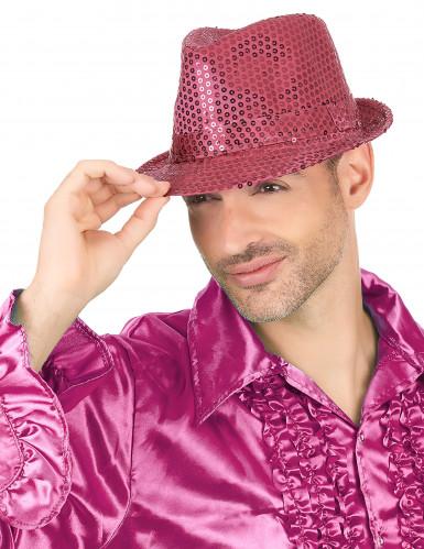 Glitzer Party Hut rosa mit Pailletten für Erwachsene-2
