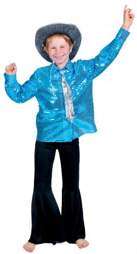 Blaues Disco Hemd für Jungen