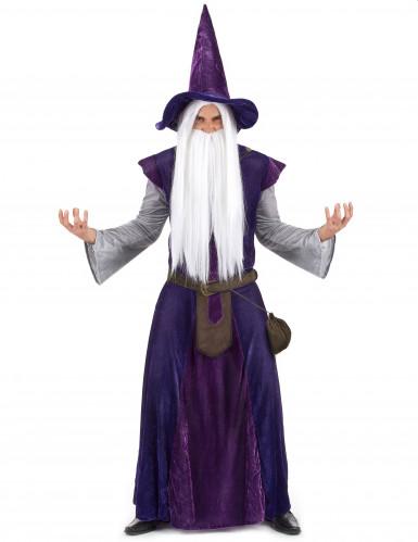 Lila Magier Hexenmeister Kostüm für Erwachsene