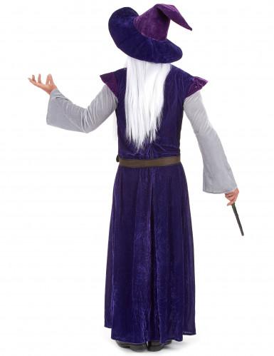 Lila Magier Hexenmeister Kostüm für Erwachsene-2