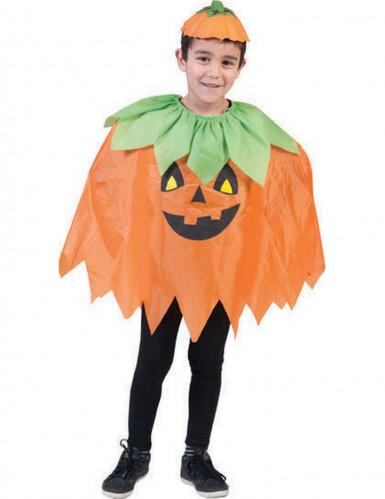 Kürbis-Poncho zu Halloween für Kinder