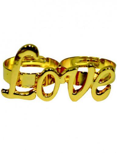 Goldener Hippie Ring Love