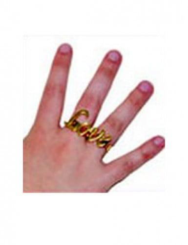 Goldener Hippie Ring Love-2