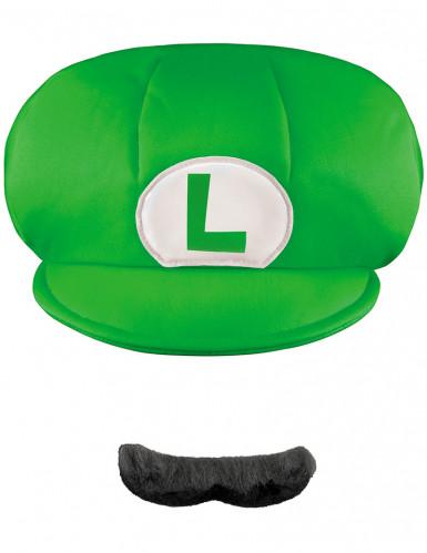 Kappe und Schnurrbart Luigi™ für Kinder