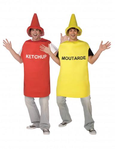 Senf-Ketchup Paarkostüm für Erwachsene
