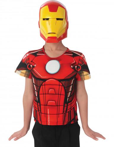 Iron Man The Avengers™ Maske und Schutzschild für Kinder