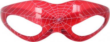 Rote leuchtende Spinnennetz-Brille