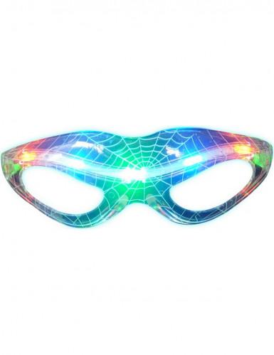 Transparente Leucht-Brille Spinnennetz