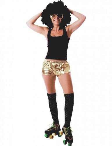 Goldene und glänzende Disco Shorty für Damen