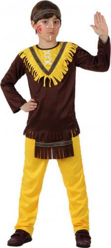Indianer-Jungenkostüm mit Stirnband bunt