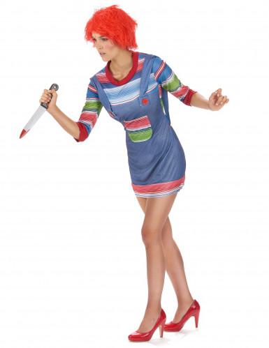 Mörder Halloween Puppen Kostüm für Damen-1