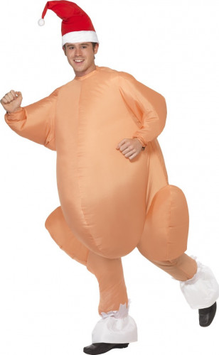 Aufblasbares Truthahn Kostüm für Erwachsene