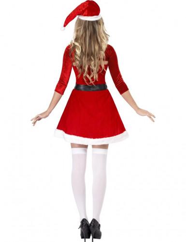 Kurzes Weihnachtsfrau-Kleid für Damen-1