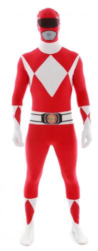 Morphsuit-Kostüm Power Rangers in Rot für Erwachsene