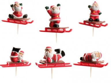 Party Picks Weihnachtsmann auf Schlitten