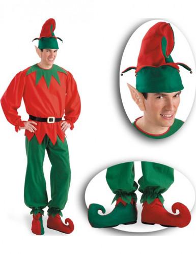 Weihnachtwichtel Kostüm Accessoire Set für Erwachsene-1
