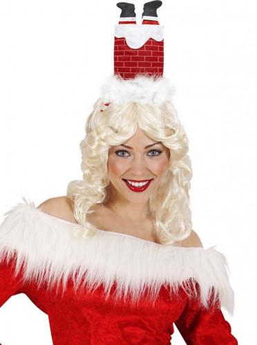 Witziger Weihnachtshaarreif Kamin für Erwachsene