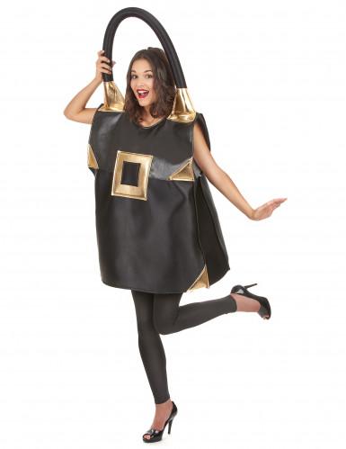 Schwarze Tasche Kostüm für Damen-1