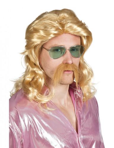Blonde Perücke und Bart und für Männer