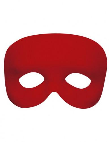 Rote Halbmaske für Erwachsene