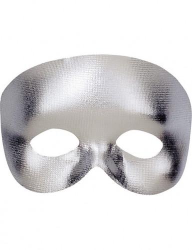 Silberne Halbmaske für Erwachsene