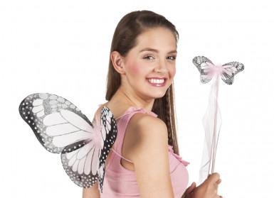 Set für einen rosa Schmetterling