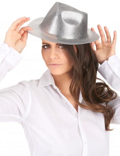Glitzernder Party Hut silber für Erwachsene-1