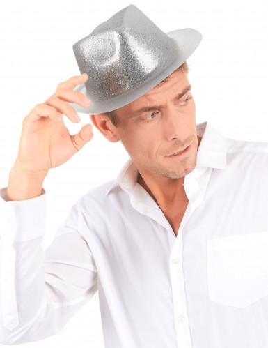 Glitzernder Party Hut silber für Erwachsene-2