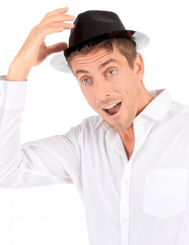 Glitzer Party Hut schwarz für Erwachsene-2