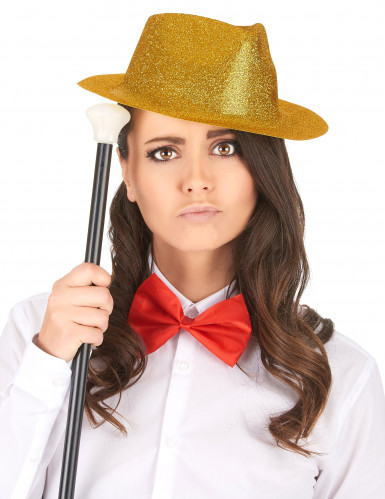 Glitzernder Party Hut gold für Erwachsene-1
