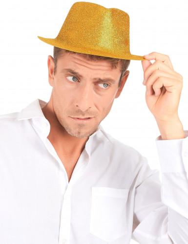 Glitzernder Party Hut gold für Erwachsene-2