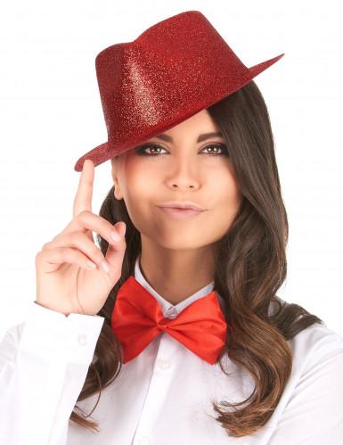 Glitzer Party Hut rot für Erwachsene-1