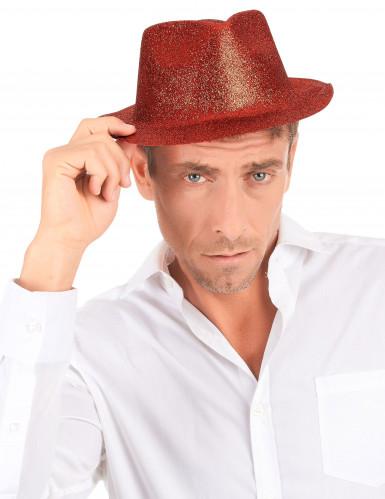 Glitzer Party Hut rot für Erwachsene-2