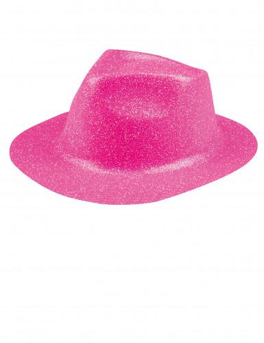 Glitzer Party Hut rosa für Erwachsene