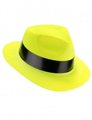 Party Hut neongelb für Erwachsene