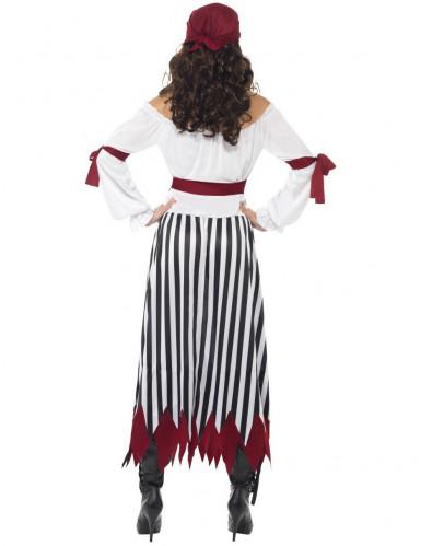 Piratin Kostüm gestreift für Damen-2