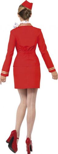 Rote Stewardess Kostüm  für Damen-2