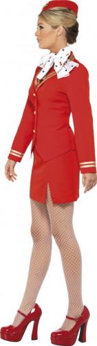 Rote Stewardess Kostüm  für Damen-1