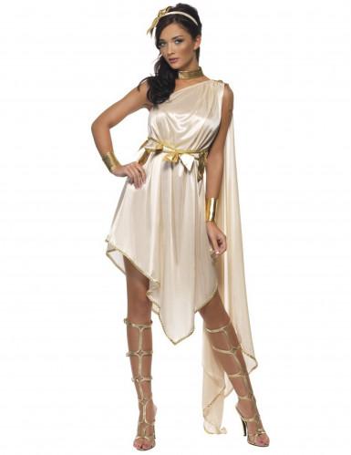 Beige Göttin Kostüm für Damen