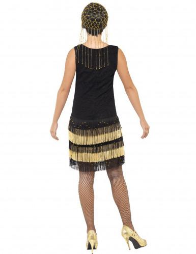 Charleston Damenkostüm schwarz-gold-2