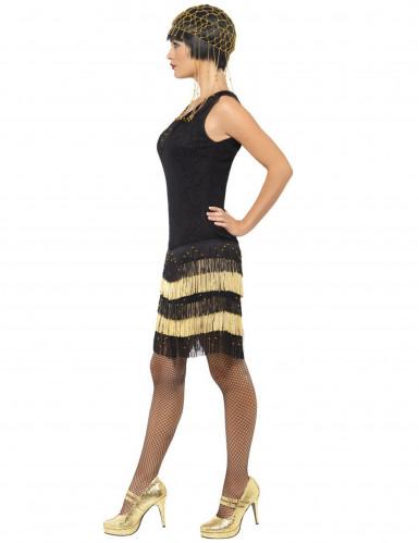 Charleston Damenkostüm schwarz-gold-1