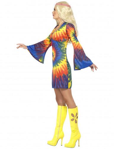Buntes Hippie Kostüm für Damen-1