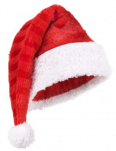 Weihnachtsmann Mütze gestreift für Erwachsene