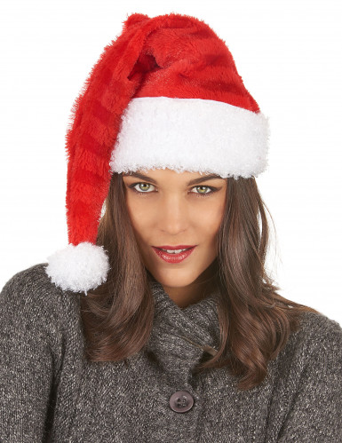 Weihnachtsmann Mütze gestreift für Erwachsene-2