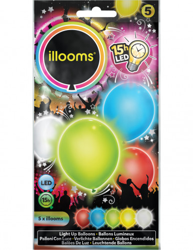 5 Illoms™-Ballons mit LED Lampen mehrfarbig-1