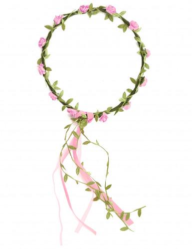 Blütenkranz weiß-rosa für Kinder-1