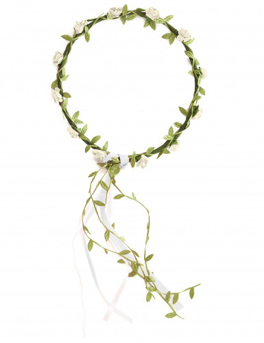 Blütenkranz weiß-grün für Kinder-1